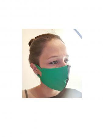 mascherina verde nero